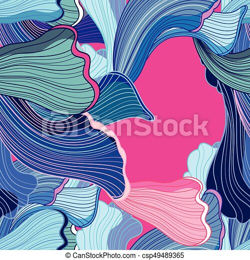Abstract colored wavy background - csp49489365
