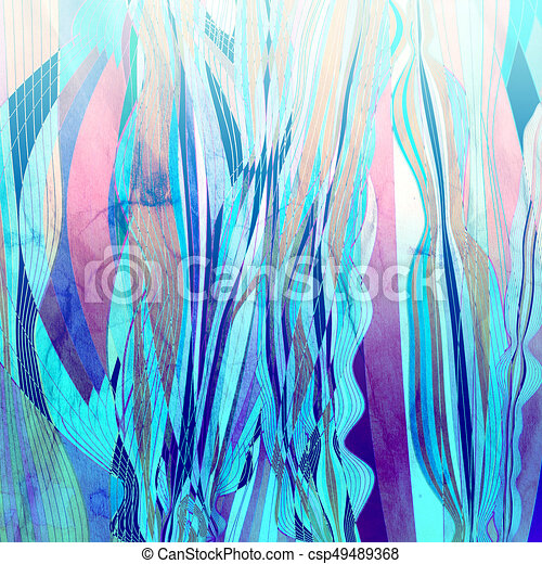 Abstract watercolor background with colorful wave - csp49489368