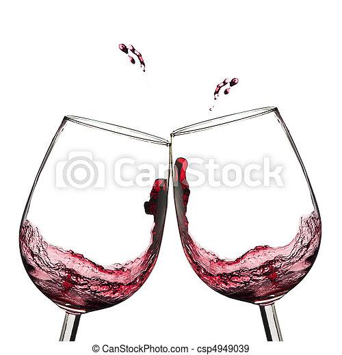 Wine toast. - csp4949039
