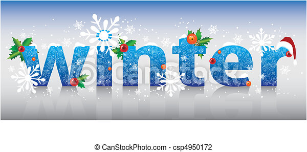 Vector - word Winter.vector illustration - stock illustration, royalty ...