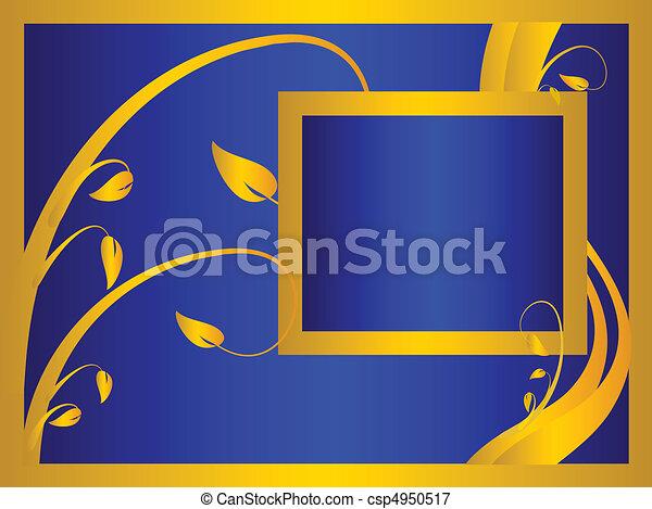 A blue formal floral background - csp4950517
