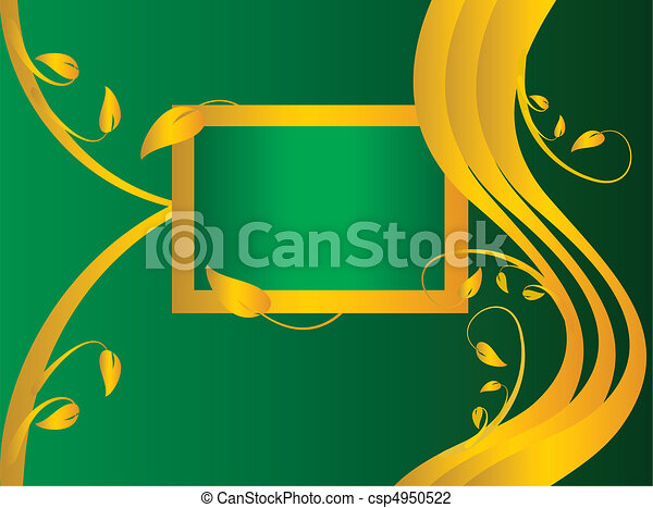 A green formal floral background - csp4950522