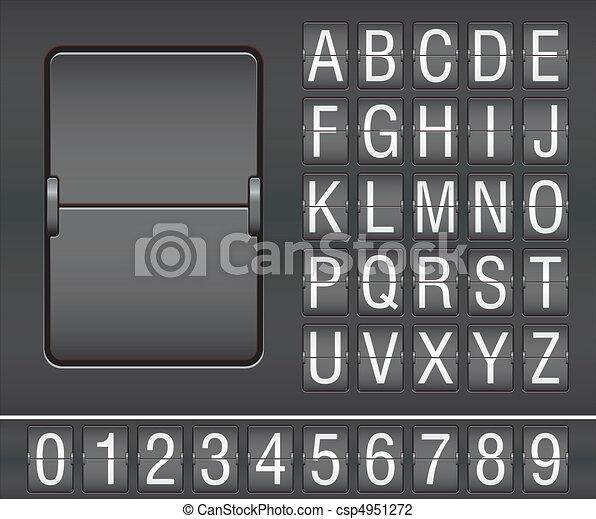 mechanical scoreboard - csp4951272