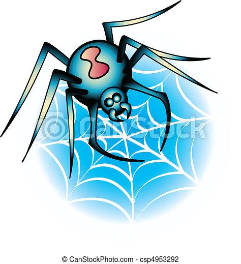 Vector Tattoo Design Spider