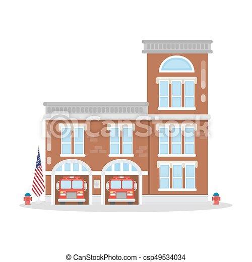Fire department building. - csp49534034