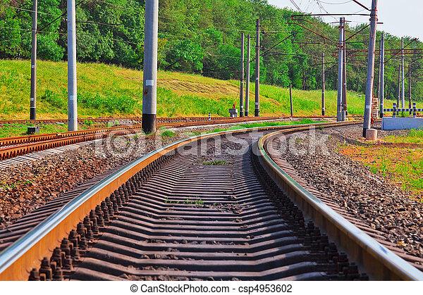 Railroad track - csp4953602