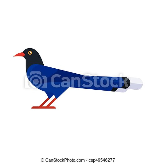 illustration of Taiwan blue magpie. - csp49546277
