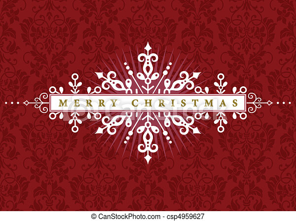 Vector Ornate Christmas Frame - csp4959627