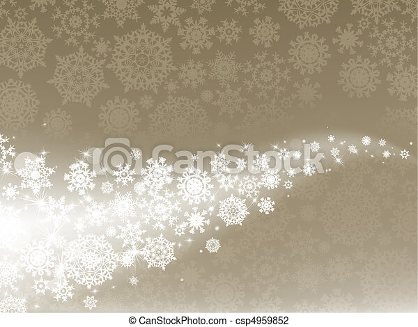 Light elegant abstract Christmas background. EPS 8 - csp4959852
