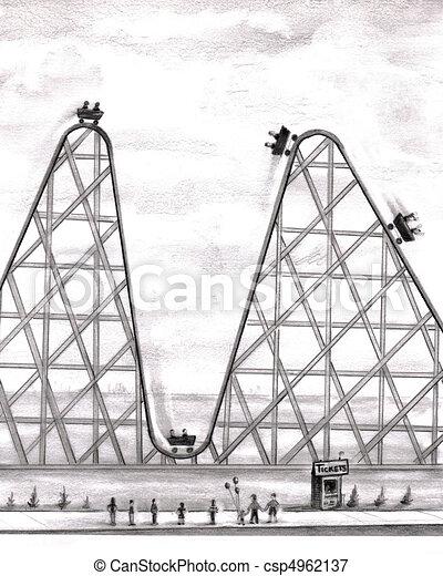 Better Worse Roller Coaster - csp4962137