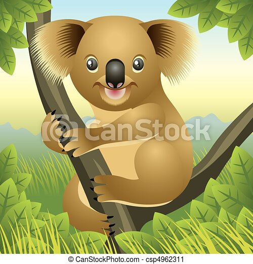 Clip Art Koala Bear Clip Art koala bear clip art and stock illustrations 1414 eps illustration of a baby up in tree more clipartby