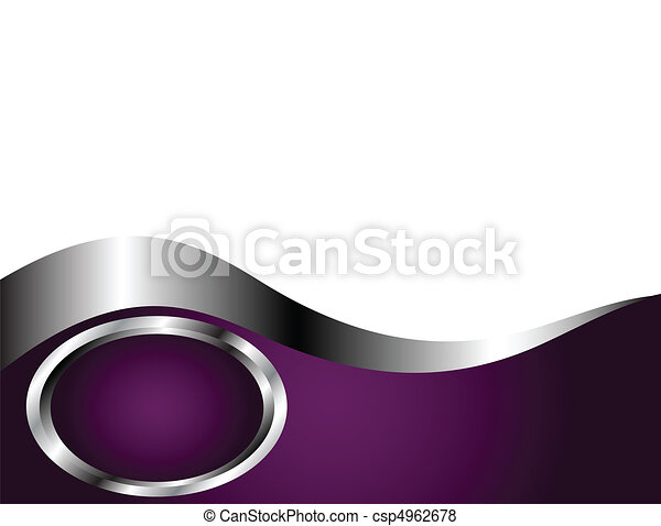 A deep purple and Silver and white Business card or Background Template - csp4962678