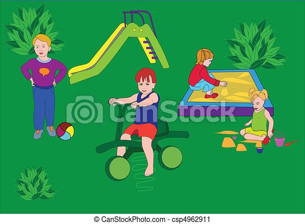children's playground - csp4962911