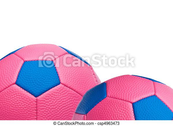 Pink Soccer Ball Border
