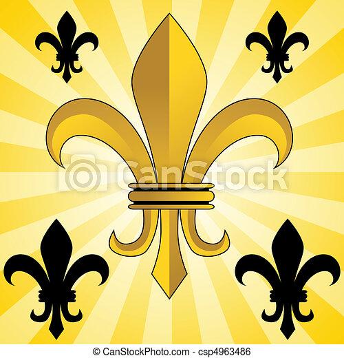 Golden Fleur-De-Lis - csp4963486
