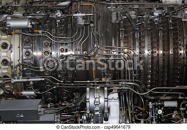 the internal structure of the aircraft engine, army aviation, military aircraft and aerospace industry.