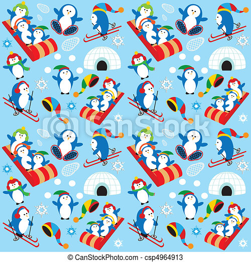 Penguin Wallpaper - csp4964913