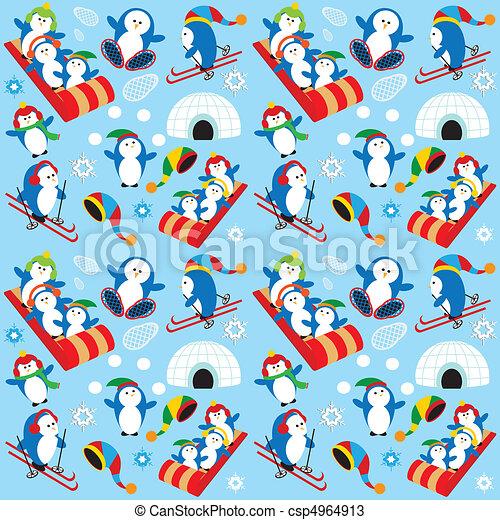 Penguin Wallpaper - csp4964913