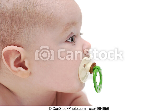 el, niño, Chupa, vacío - csp4964956