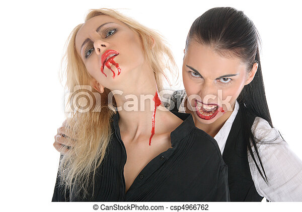 Malicious woman -vampire and beautiful women - csp4966762