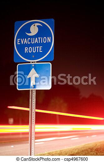 Hurricane Evacuation Route - csp4967600