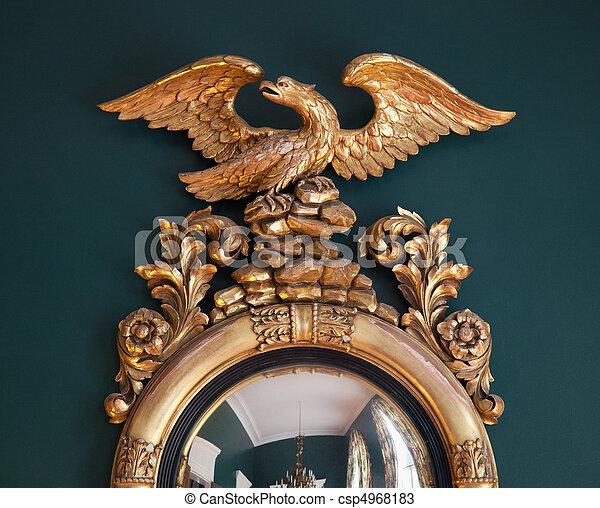 Photo orn or miroir image images photo libre de droits photos sous licence - Miroir a la decoupe ...