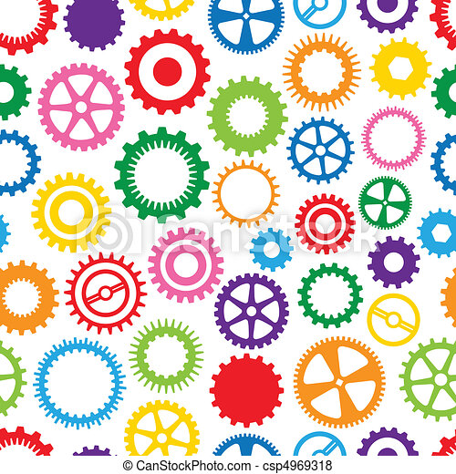 Colorful Cog Background - csp4969318