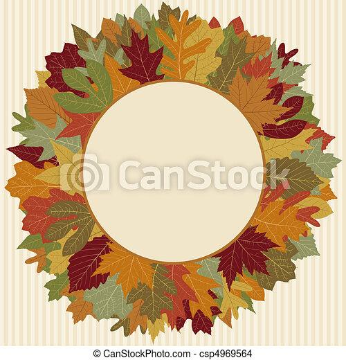 Autumn Leaf Wreath - csp4969564