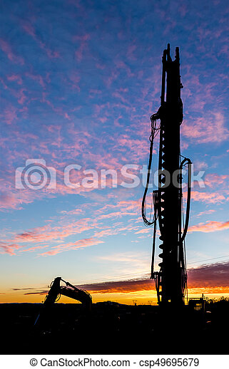 Construction Drill Dawn - csp49695679
