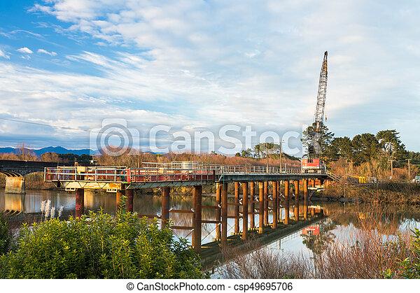Whirokino Bridge Construction - csp49695706