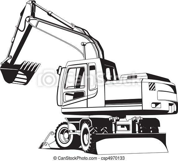 Excavator outline - csp4970133