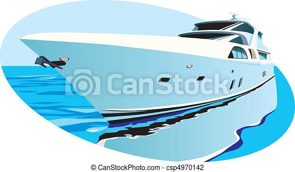 luxury yacht - csp4970142