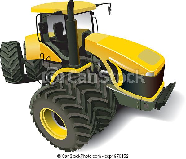 Yellow Modern Tractor - csp4970152