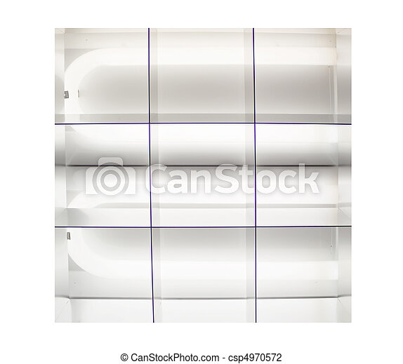 fluorescent lights that are lit up - csp4970572