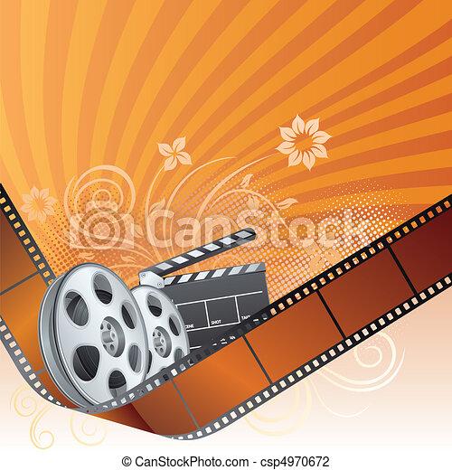 movie theme element - csp4970672