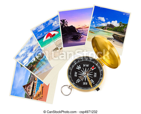 Summer beach shots and compass - csp4971232