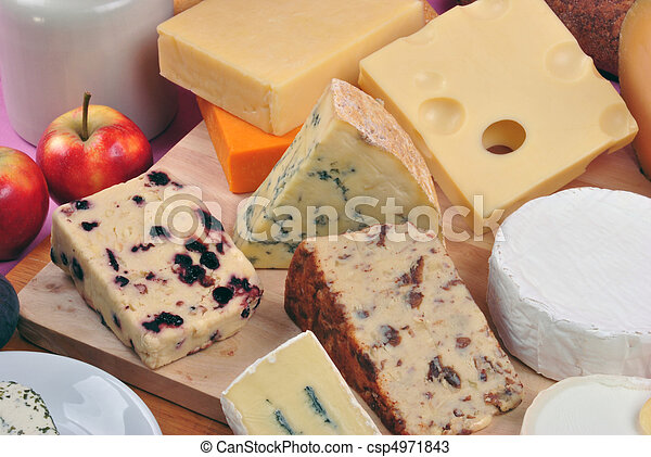 cheese platter with some organic fresh cheese - csp4971843