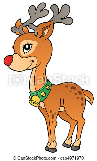 Young Christmas reindeer 2 - csp4971970