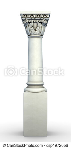 Isolated Architectural Column - csp4972056