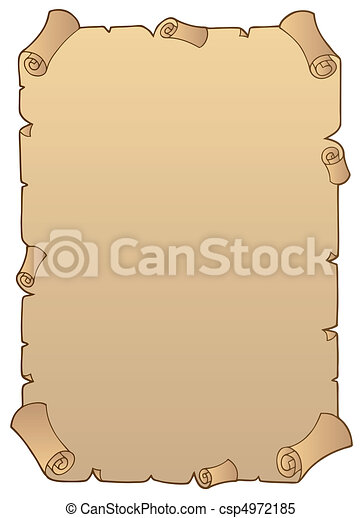 Ancient paper scroll 1 - csp4972185