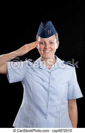 Military Girl - csp4972510