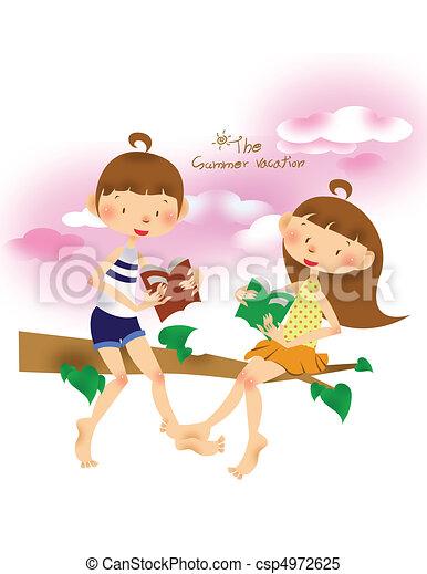 Kids in Summer - csp4972625