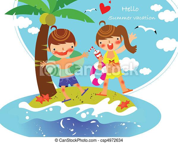 Kids in Summer - csp4972634