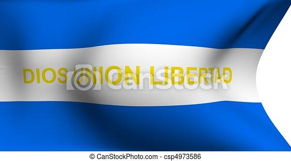 Civil ensign of El Salvador  - csp4973586