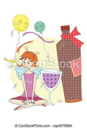 party, pleasure, happy Time - csp4975894