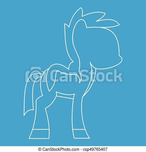 Little pony icon, outline style - csp49765407