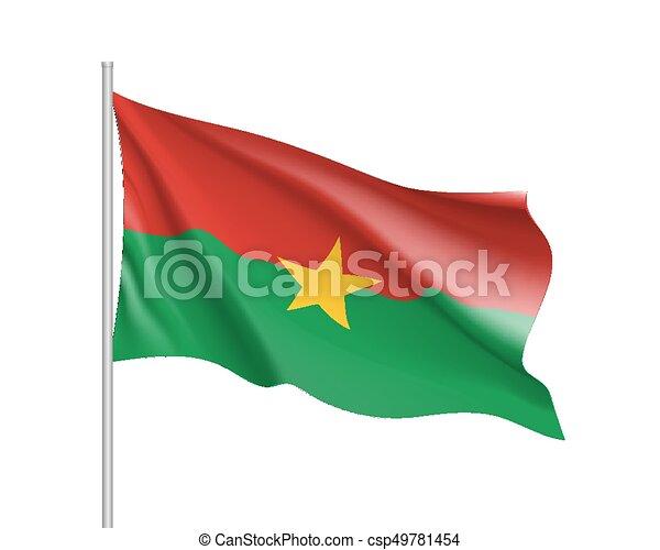 Burkina Faco realistic flag - csp49781454