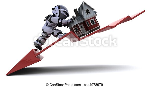 Declining Property Prices - csp4978979