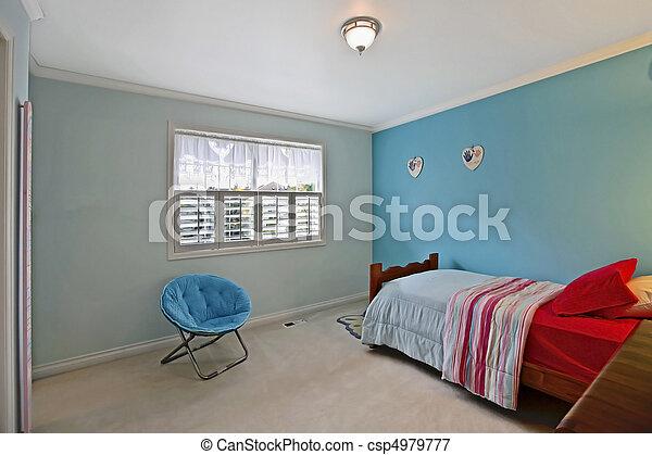 Plaatje van tiener slaapkamer slaapkamer 15 jaren oud meisje csp4979777 zoek naar stock - Foto van tiener slaapkamer ...