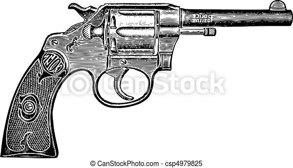 Vector Vintage Pistol - csp4979825